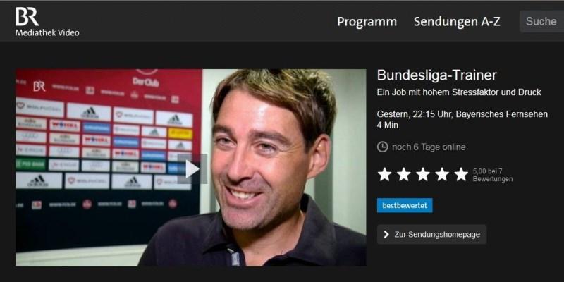 """Antje Heimsoeth in """"Blickpunk Sport"""" – Fußball: Stress und Druck bei Fußballtrainern"""