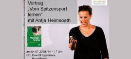 "EXKLUSIVER VORTRAG ""Vom Spitzensport lernen"" Antje Heimsoeth live erleben"