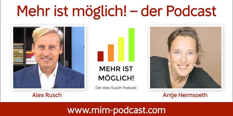 """Antje Heimsoeth im Podcast """"Mehr ist möglich!""""  – Was können wir von Spitzensportlern lernen"""