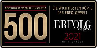 Die Gründerin der Heimsoeth Academy, Antje Heimsoeth, gehört zu den 500 wichtigsten Köpfen der Erfolgswelt!