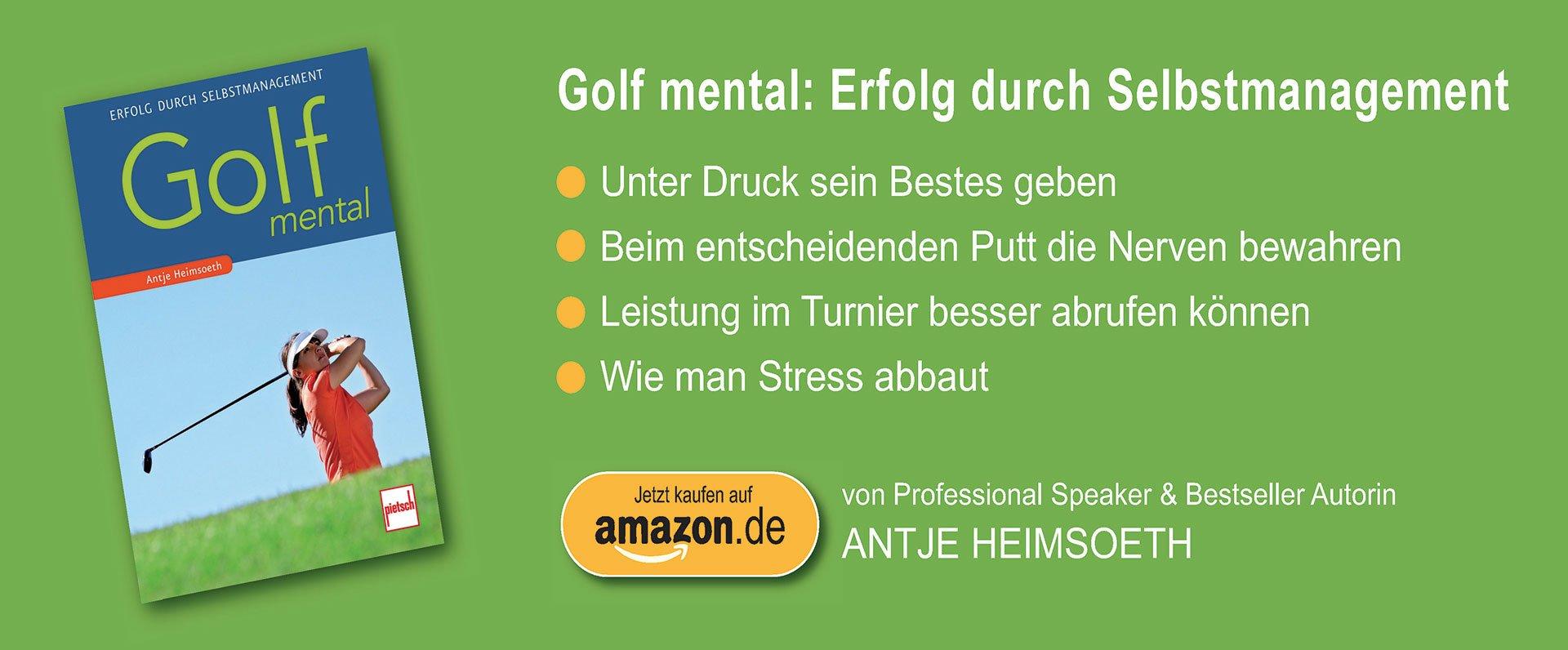 Buch Golf mental: Erfolg durch Selbstmanagement